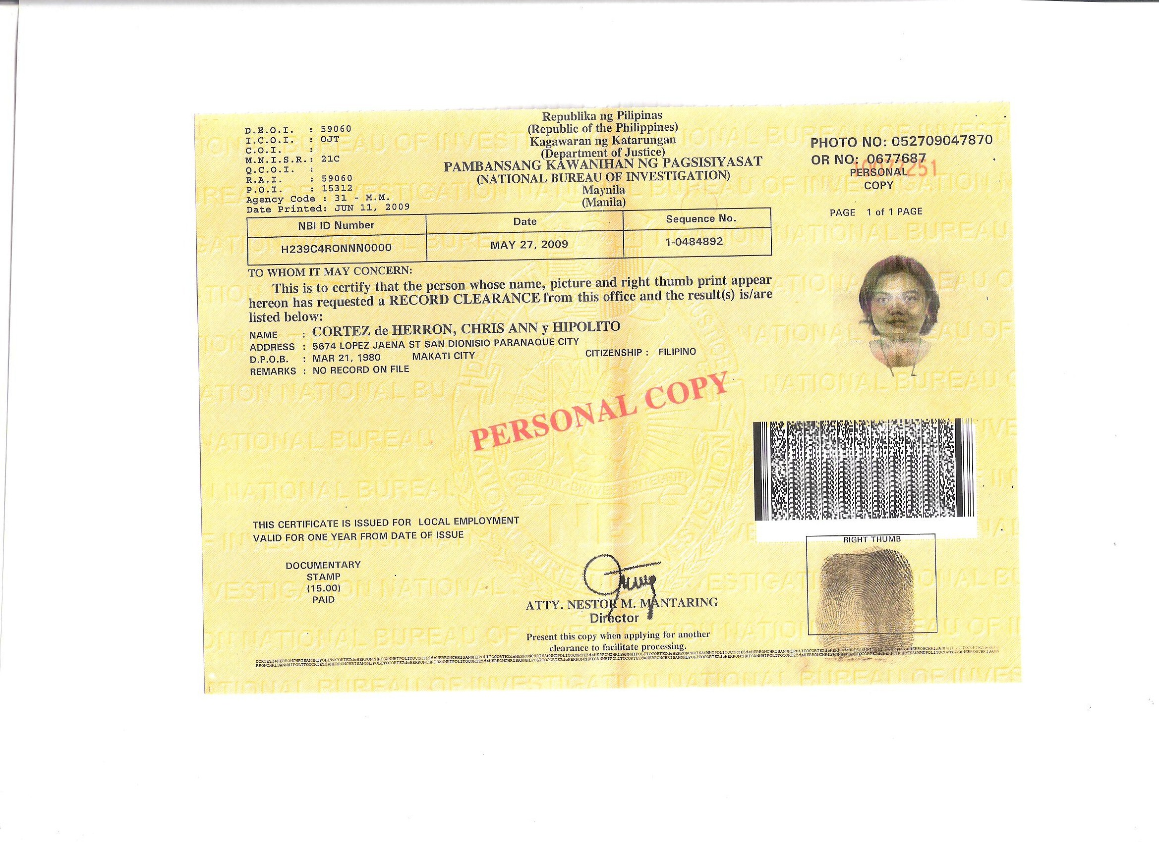 Hookup security clearance id
